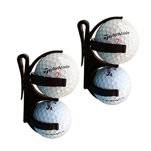 Golfoy Plastic Golf Balls Holder Clip (Pack of 2)