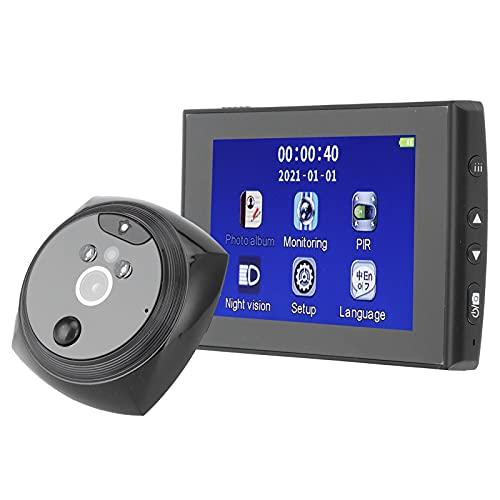 Garosa Videoportero 4.3in HD Mirilla electrónica Inteligente Videoportero Cámara Visor de Puerta 720P Alta definición Inteligente con detección de Movimiento