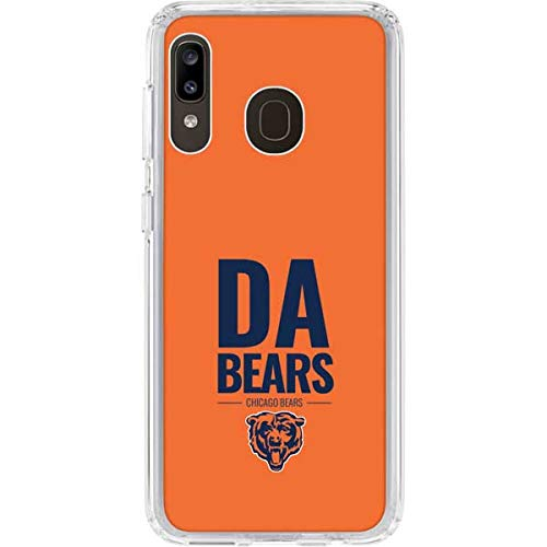 Skinit Clear Phone Case for Galaxy A20 - Officially Licensed NFL Chicago Bears Team Motto Design