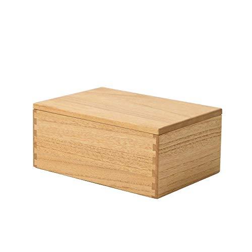 NM Kirigen Stash Box mit Deckel - Holz Stash Box mit Rolltablett - Holzkisten für Home Office Aufbewahrung Natur