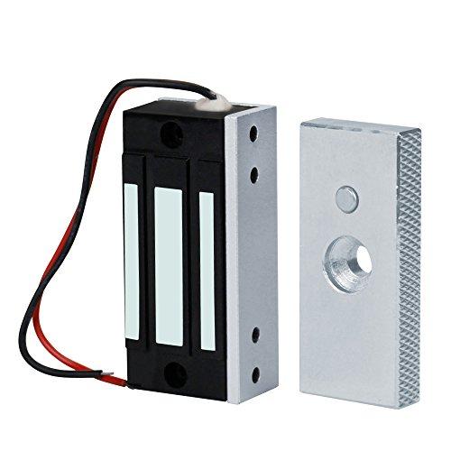 NN99 60KG / 132lbs Cerraduras Eléctricas Magneitc Electromagneitc Cerraduras para Sistema de Control de Acceso de Puertas Mini DC12V Cerradura Peque