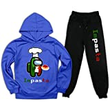 Conjunto de sudadera con capucha y pantalones deportivos Among Us para niños y...