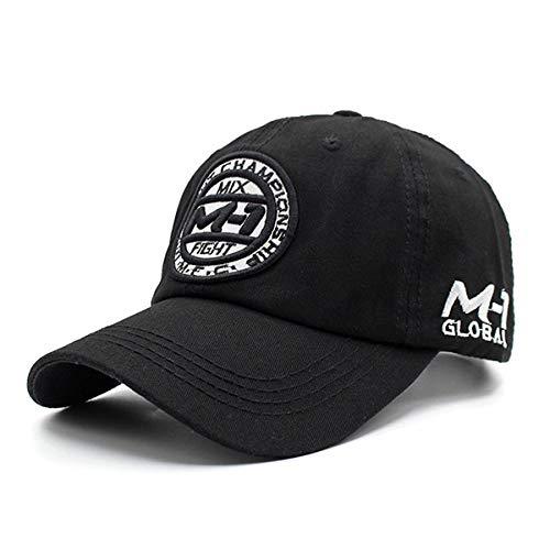 Gorra 100% algodón Marca Gorra de béisbol Hombres Mujeres Snapback Gorras Sombreros para Hombres Bonehip Hop Dad Gorra de béisbol Gorra Ajustable Negro