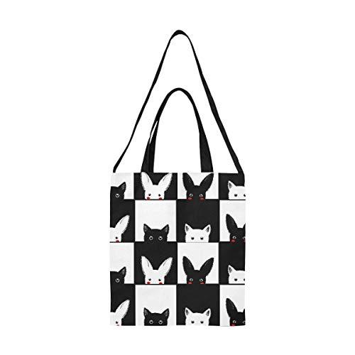 Bolso de mano de cuero PU para mujer con patrón de gato lindo 3D, bolso de mano grande de diseño personalizado para mujer