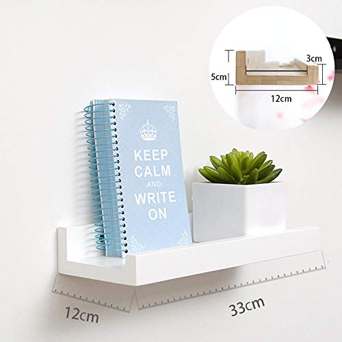 Drijvende planken Display Racks Boekenkast Record Houder Bloem Plant Pot Plank Rack Modern Office Home Display Word Partitie Wandrek Wandrek Creatieve Wandplank Massief Hout Decoratieve Frame
