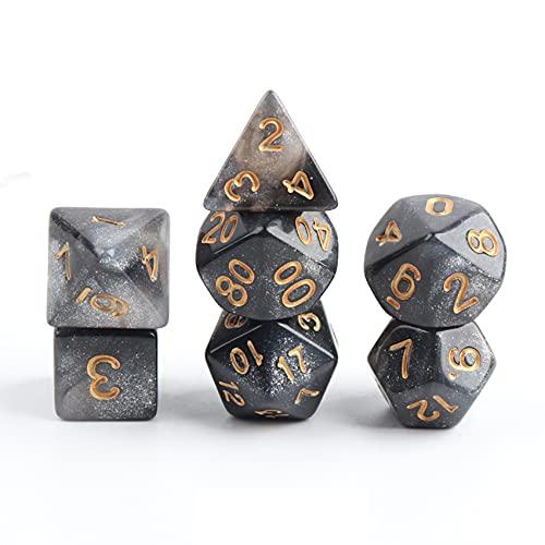 Rpanle Dadi da Gioco, Dadi Poliedrici per Gioco di Ruolo Dungeons & Dragons e Altri Giochi da Tavolo (7 Pezzi)