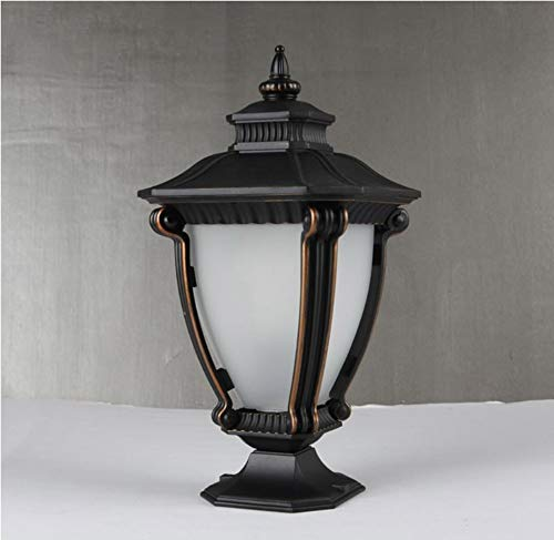 Lamp Villa Garten Allee Decoratie Pilier Lamp Verlichting Tuinbank