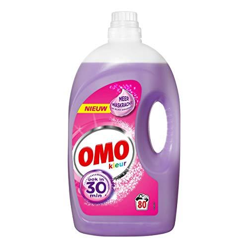 Omo Waschmittel Farbe Flüssigkeit 80 Messlöffel - Flasche mit 4 Litern