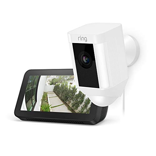Ring Spotlight Cam Wired (White) with Echo Show 5 (Charcoal) Only $179.99 (Retail $279.98)