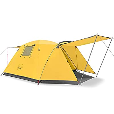 KAZOO Outdoor Camping Tent Durable Waterproof, Family Large Tents 4 Person Easy Setup Tent with Porch Double Layer