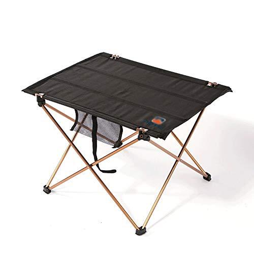 De aluminio que acampa plegable de mesa, al aire libre tabla ligera con bolsa de almacenamiento, el Camping de aluminio Mini Mesa plegable for el recorrido de la comida campestre que acampa yendo de p