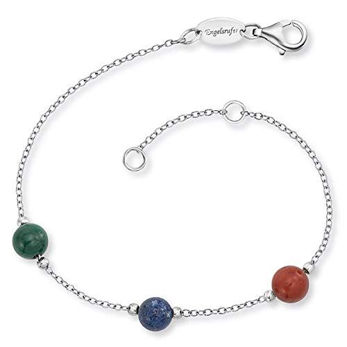 Engelsrufer Armband Kraftstein Malachit Lapislazuli Roter Jaspis ERB-LILGEM-3ST-02