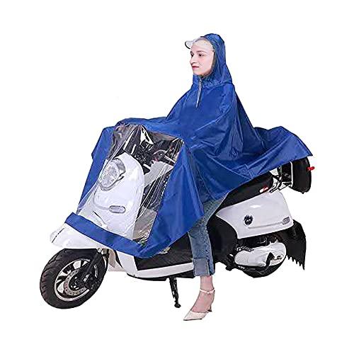 CJBIN Poncho Velo, Poncho Pluie Velo Femme Homme, Cape de Pluie, Manteau Imperméable avec Cap Capuche,Poncho de Pluie Imperméable pour Cyclisme ou Moto, Unisexe pour Homme Femme, Bleu