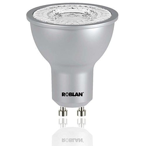 Roblan ECOSKYB100 Bombilla GU10, 6 W, Aluminio