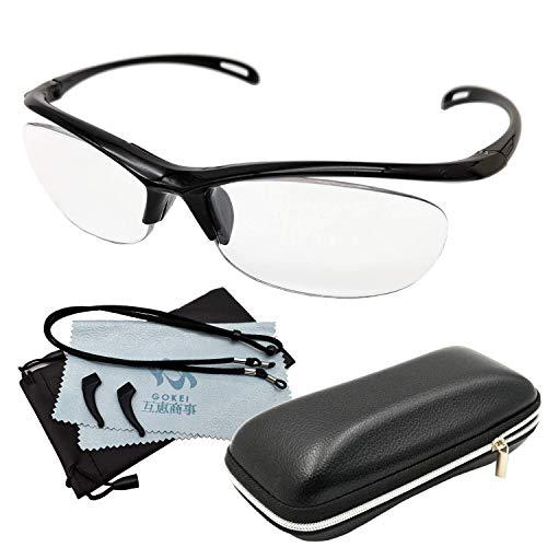 [GOKEI正規品直営店] 拡大鏡 めがね 1.6倍 ルーペメガネ ルーペ メガネ型拡大鏡 眼鏡ルーペ 6点セット 「1年間の安心保証] ブラック