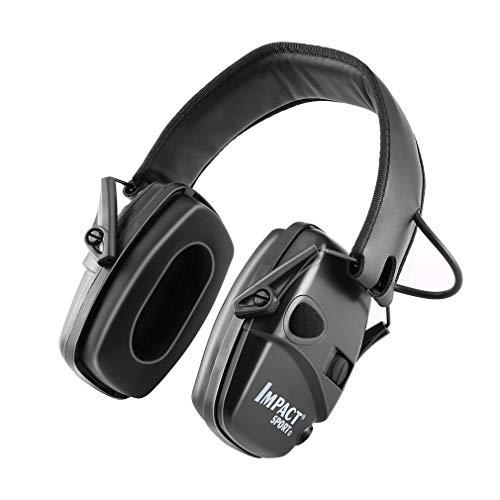 Elektronisch oorbeschermer Geluidsarme hoofdtelefoon Gehoorbeschermende hoofdtelefoon Zwart