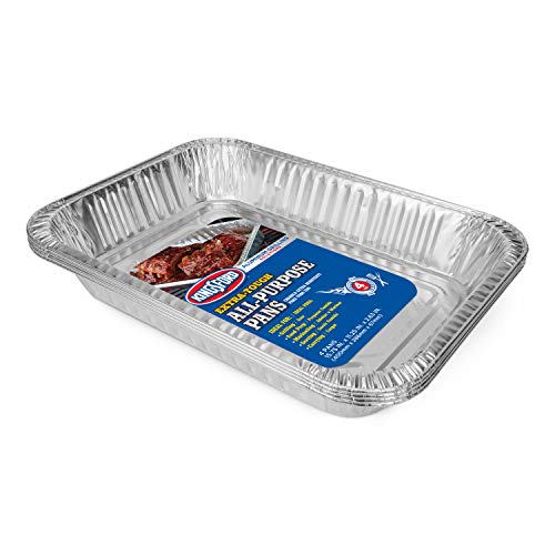 Kingsford Extra Tough All-Purpose Aluminum Pans, 24 Count   Disposable Aluminum Foil Pans Ideal for Cooking, Baking, Steaming, Grilling, Smoking   Safe, Disposable Chafing Dish