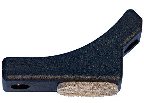 Original Dekaform Filzgleiter Fi-202-25 R 80 Schalengleiter - Gleitkufe Stuhlgleiter fuer gebogene Rohre Freischwinger Bürostuhl Möbelgleiter Kunststoff Bodenschoner Filz Stuhl Gleiter