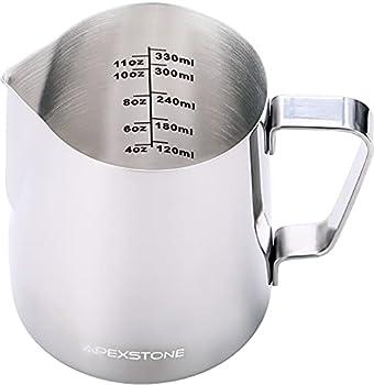 Apexstone 12 oz Espresso Steaming Pitcher,Espresso Milk Frothing Pitcher 12 oz,Coffee Milk Frothing Cup,Coffee Steaming Pitcher 12 oz/350 ml