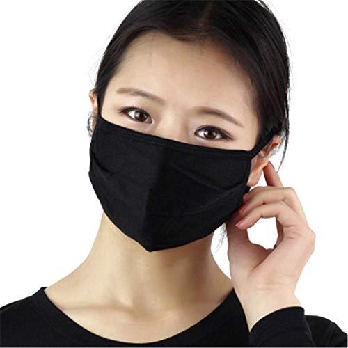 Mundschutz aus Seide, staubdicht, atmungsaktiv, wiederverwendbar, 3 Stück
