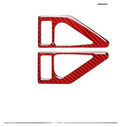 Ajuste actualizado para BMW Serie 3 E46 M3 1998 – 2005 interior de coches de fibra de carbono real en la parte trasera del asiento trasero de la fila del techo de la luz de lectura modificada (rojo)