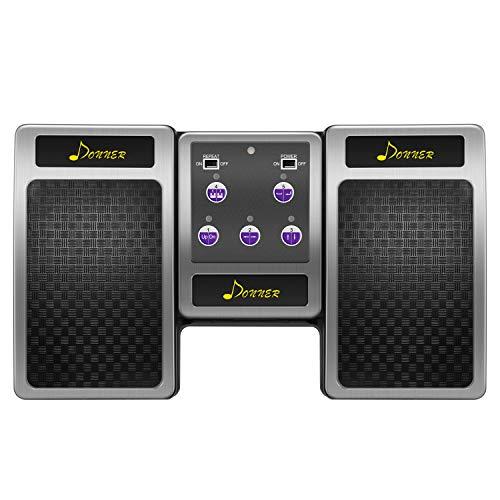 Donner Wireless Page Turner Pedal für Tablet Ipad Wiederaufladbar, Silber