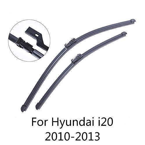 Liliguan ruitenwissers voor de voorruit, voor Hyundai i20 2010 2011 2012 2013, zacht rubber voor auto