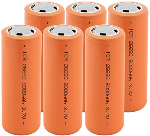 26650 3,7 v 8000 mah batería de Iones de Litio batería Recargable baterías de Litio seguras para Uso Industrial Adecuado para batería de Linterna-6 Piezas