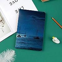 軽量版 iPad Pro 11 ケース 極薄軽量 2つ折りスタンド 磁気吸着式 オートスリープ機能 傷つけ防止 手帳型 2018秋発売のiPad Pro 11に対応 スマートカバーマウイ島ハワイの穏やかな海の景色の上の夜空の満月の劇的な写真