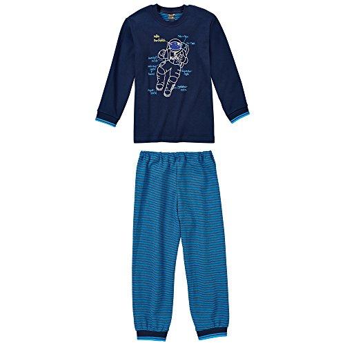 Schiesser Jungen Anzug Lang Zweiteiliger Schlafanzug, Blau (Nachtblau 804), (Herstellergröße: 104)