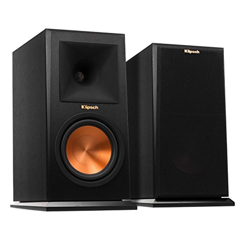 Klipsch RP-160M Bookshelf Speaker - Ebony, Pair (Renewed)
