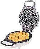 Cakunmik Máquina de Desayuno Bubble Waffle Hierro con indicador - Blanco - Control Inteligente Temperatura Bubble Huevo Waffle