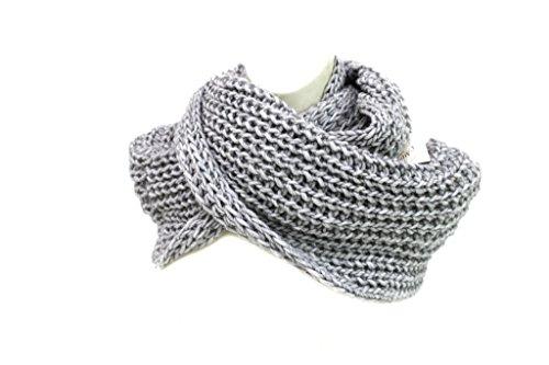 MADE IN ITALY Sciarpa ad anello donna l.uncinetto m1508 perla