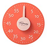 Big Mechanical Kitchen Timer with Magnetic, Cooking Timer, 7.5 inches Round Countdown Timer, Refrigerator Magnetic Countdown Timer, Learning the time for Kid, Cooking for Chef (Orange)