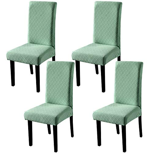 YISUN Universal Stretch Stuhlhussen 4er 6er Set Stuhlbezug für Stuhl Esszimmer (4er Set, Dunkelgrün)