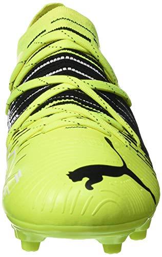 PUMA Future Z 2.1 FG/AG Jr, Zapatillas de fútbol Unisex niños, Yellow Alert Black White, 32 EU