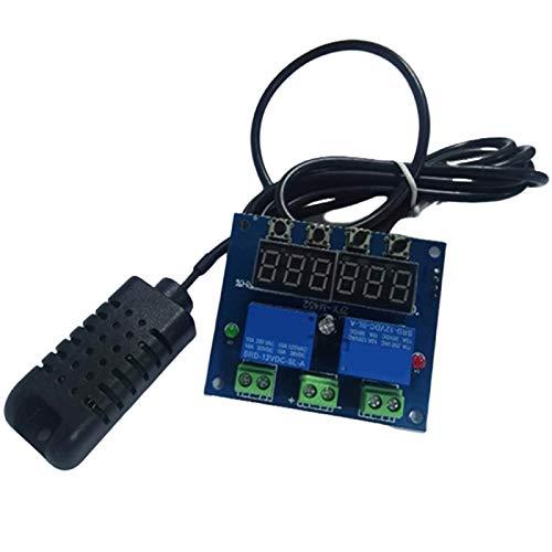 Nrpfell XH-M452 Humedad LED Termostato Digital Higrostato 12V Temperatura Del Hogar Controlador de Humedad Regulador TermóMetro HigróMetro