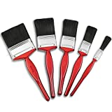 Bizwizz 5pc Professional Paint Brushes with Strong of Bristle Paintbrush Heads 5 Piece Pack Set, Best Paint Brushes Decorating Tools & Technique for Architects
