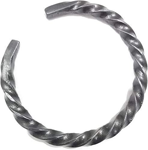 Pulsera trenzada vikinga forjada a mano trenzada con anillo de brazo vikingo, joyería nórdica.