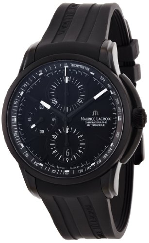 Maurice Lacroix Pontos PT6188-SS001-331 - Cronógrafo, color negro