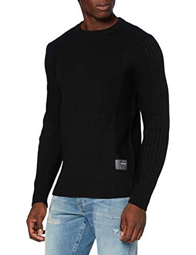 G-STAR RAW Herren Pullover Sweater 3D Biker, Dk Black C259-6484, Medium