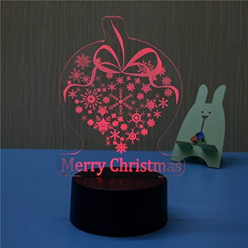 Weihnachten führte Nachtlicht Bunte Lichter des Weihnachtsbaums berühren das Verdunkeln der Schlafzimmerkarikatur-Tischlampenlogo Weihnachtsseide