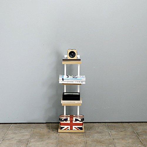 GLFZWJ Regal Aus Holz Blumenständer Mini Bettgestell Racks Einfache Mehrstöckige Einfache Wort Lagerregal Bücherregal Bodenregale (Design : 1)