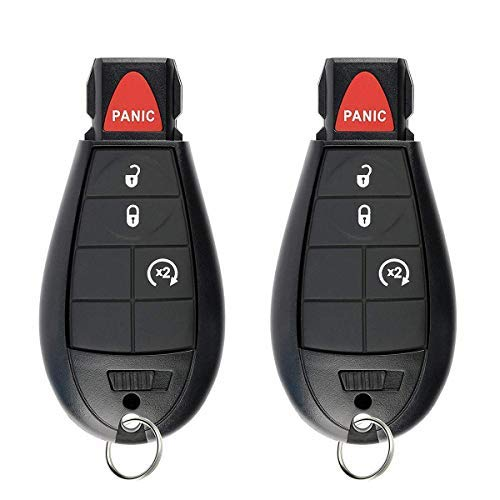 SaverRemotes 4 Button Key Fob Compatible for 2013-2018 Dodge Ram 1500 2500 3500 Keyless Entry Remote Replacement for GQ4-53T