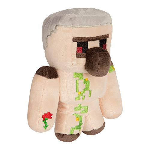 "JINX Minecraft Happy Explorer Iron Golem Plush Stuffed Toy, Multi-Colored, 7"" Tall"