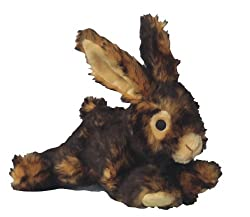 Plush Rabbit Dog Toy by Pet Lou.