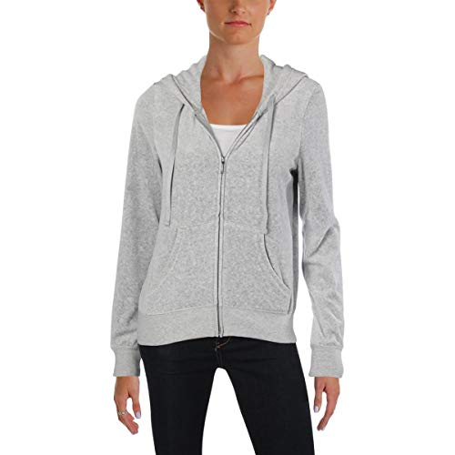 Juicy Couture Black Label Women's Velour Robertson Jacket, Silver Lining, XS