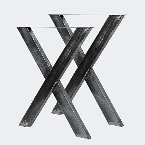 Bastidores para mesa 72x60 cm Acero lacado claro Caballetes Perfil-X Patas de mesa Bricolaje