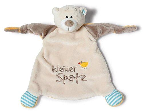 NICI Schmusetuch Bär 'Kleiner Sonnenschein´ 25x25 cm – Schnuffeltuch ab 0+ Monaten – Kuscheltuch für Babys & Kleinkinder – Baby Kuscheltier / Schnuffeltuch – Schmusetuch für Mädchen & Jungen – 40041
