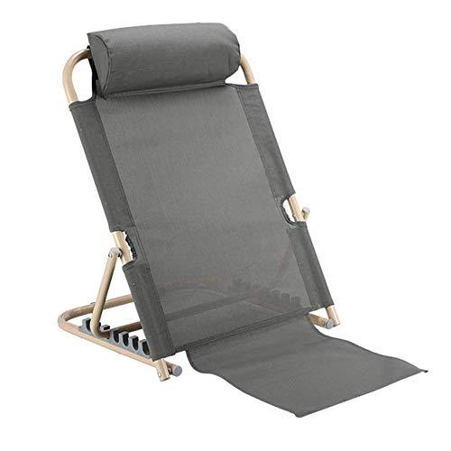 ZHHB Rückenlehne, Klapp Einstellbare Disability Aid 7 Positionen Verstellbares Bett Rückenlehne Für Bettlägerige Patienten Hals Kopf Und Lendenwirbelstütze, Für Patienten Altenpflege,Grau